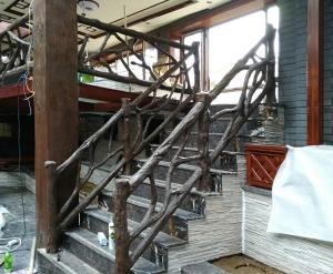 仿木楼梯扶手