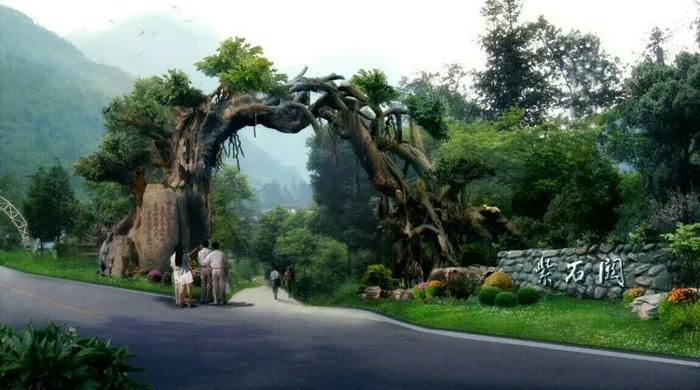 大连仿石仿木生态景观门
