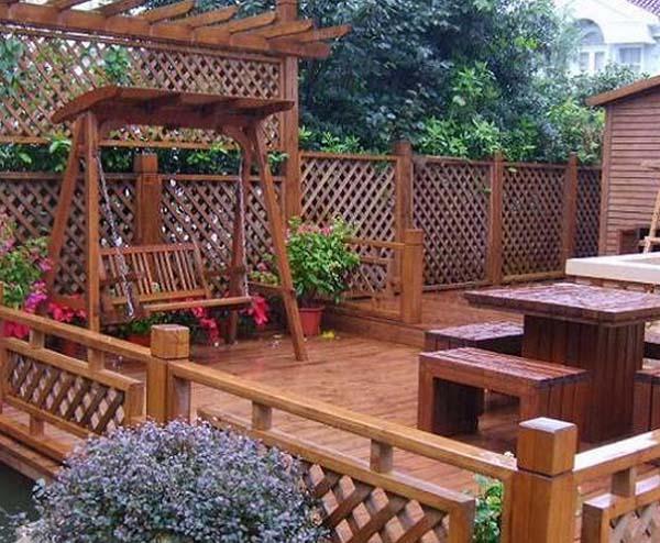 防腐木庭院装修