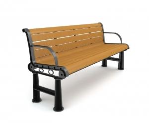 靠背公园椅