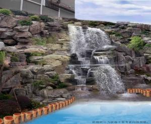 大连塑石假山人工瀑布设计施工