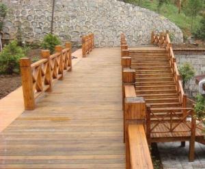 吉林防腐木地板楼梯