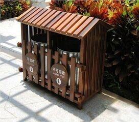 实木垃圾桶