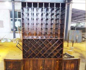 木质酒柜制作