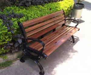 营口铸铁公园椅