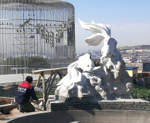 吉林大连鱼雕塑
