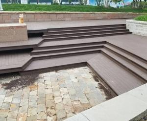 塑木地板花样铺装