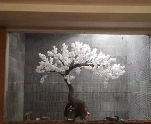 大连水幕墙 樱花树