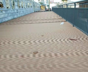 大连塑木地板铺装
