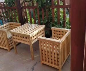 大连户外实木桌椅
