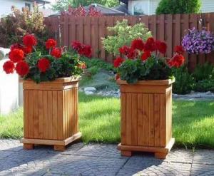 大连木质花箱